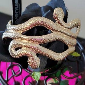 Goldtone Snake Cuff Bracelet